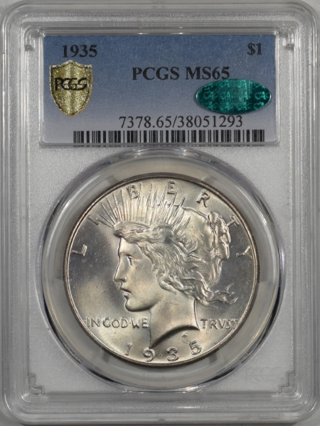 1935-$1-PCGS-MS65-CAC-293-1