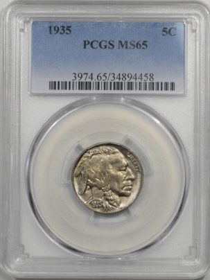Buffalo Nickels 1935 BUFFALO NICKEL PCGS MS-65
