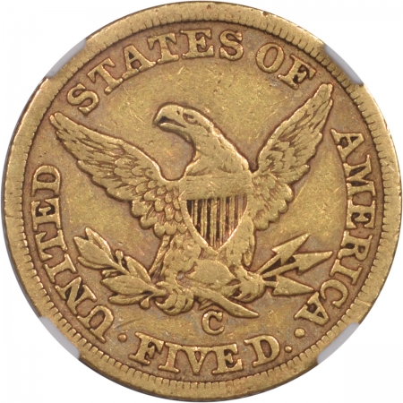 Coin World/Numismatic News Featured Coins 1847-C $5 LIBERTY GOLD NGC VF-20 POP1, CAC APPROVED!