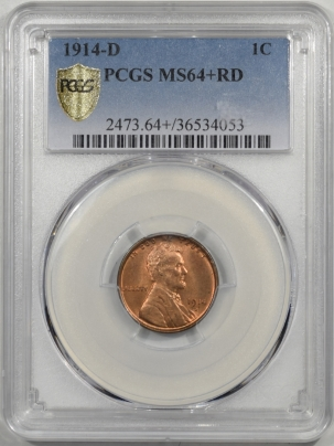 Coin World/Numismatic News Featured Coins 1914-D LINCOLN CENT PCGS MS-64+ RD