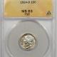 Mercury Dimes 1924-D MERCURY DIME PCGS MS-63