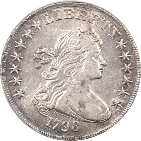 Early Dollars 1798 DRAPED BUST DOLLAR – LARGE EAGLE PCGS AU-53