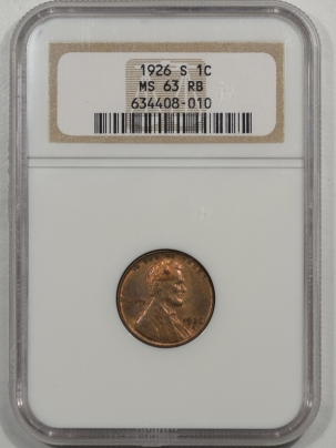 Lincoln Cents (Wheat) 1926-S LINCOLN CENT NGC MS-63 RB