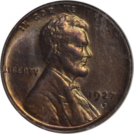 Lincoln Cents (Wheat) 1927-D LINCOLN CENT NGC MS-65 RB