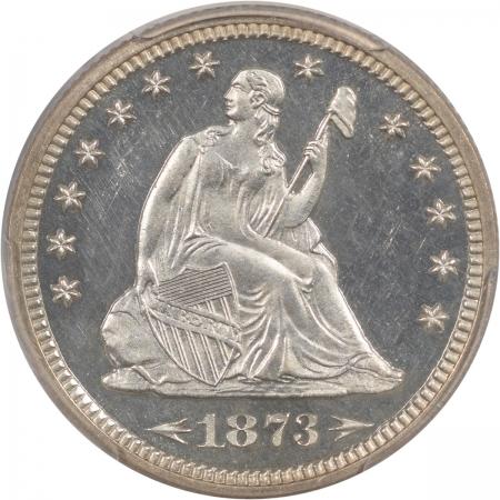 Liberty Seated Quarters 1873 PROOF SEATED LIBERTY QUARTER – ARROWS PCGS PR-63 CAM