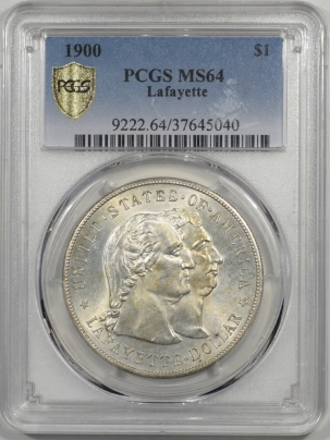 Silver 1900 $1 LAFAYETTE COMMEMORATIVE PCGS MS-64 FLASHY ORIGINAL!!