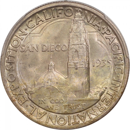 Silver 1935-S SAN DIEGO COMMEMORATIVE HALF DOLLAR PCGS MS-67