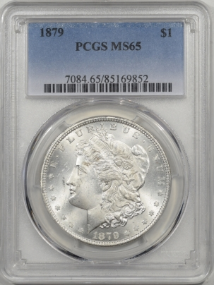 Coin World/Numismatic News Featured Coins 1879 MORGAN DOLLAR PCGS MS-65 PREMIUM QUALITY!