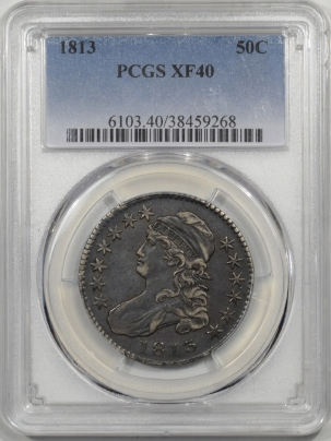Early Halves 1813 CAPPED BUST HALF DOLLAR PCGS XF-40
