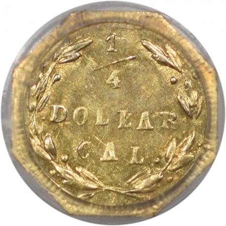 Territorial/California Fractional Gold 1871 25c FRACTIONAL GOLD – BG-767 PCGS MS-62