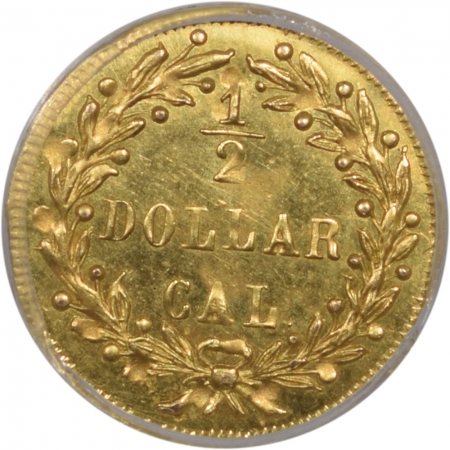 Territorial/California Fractional Gold 1872 50c FRACTIONAL GOLD – BG-1049, PCGS MS-65 PREMIUM QUALITY!