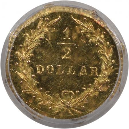 Territorial/California Fractional Gold 1880 50c FRACTIONAL GOLD – BG-954, PCGS MS-65