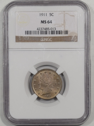 Liberty Nickels 1911 LIBERTY NICKEL NGC MS-64