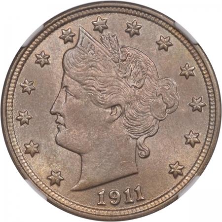Liberty Nickels 1911 LIBERTY NICKEL NGC MS-64