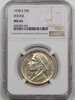 Silver 1938-S BOONE COMMEMORATIVE HALF DOLLAR NGC MS-65 PREMIUM QUALITY!
