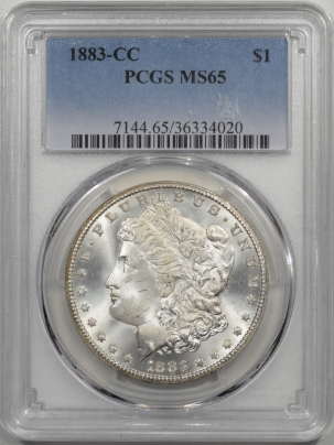 Morgan Dollars 1883-CC MORGAN DOLLAR PCGS MS-65