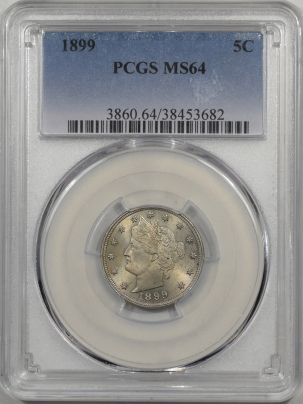 Liberty Nickels 1899 LIBERTY NICKEL PCGS MS-64