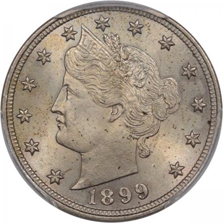 Shield Nickels 1899 LIBERTY NICKEL PCGS MS-64