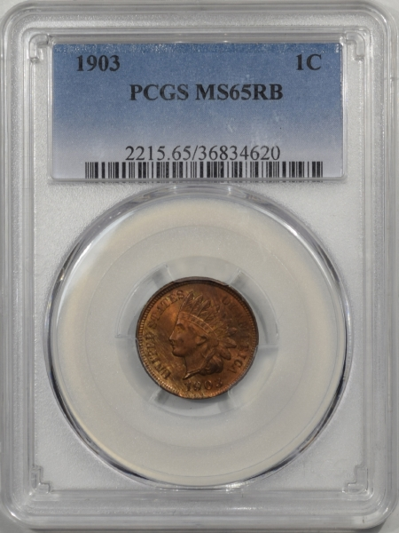 Indian 1903 INDIAN CENT PCGS MS-65 RB