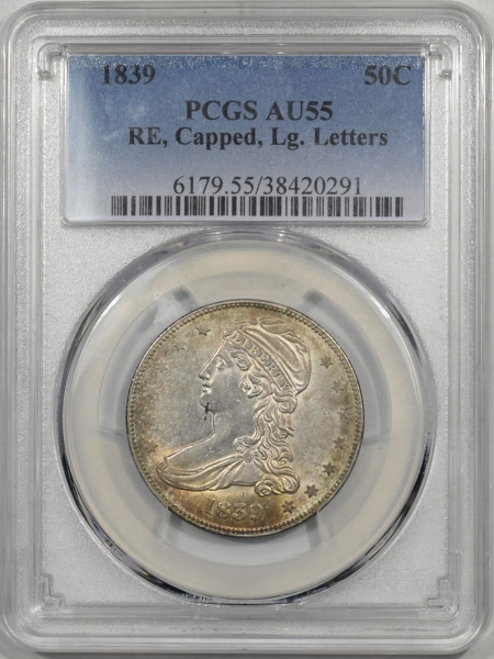 1839-50C-RE-CAPPED-PCGS-AU55-291-1
