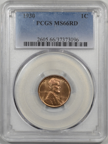 Lincoln Cents (Wheat) 1930 LINCOLN CENT PCGS MS-66 RD