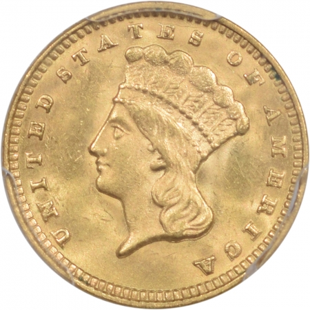 Coin World/Numismatic News Featured Coins 1874 $1 GOLD DOLLAR PCGS MS-64 CAC, PQ & LOOKS GEM!