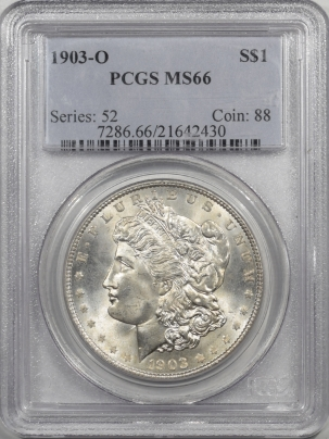 Coin World/Numismatic News Featured Coins 1903-O MORGAN DOLLAR PCGS MS-66, RARE DATE, ORIGINAL WHITE