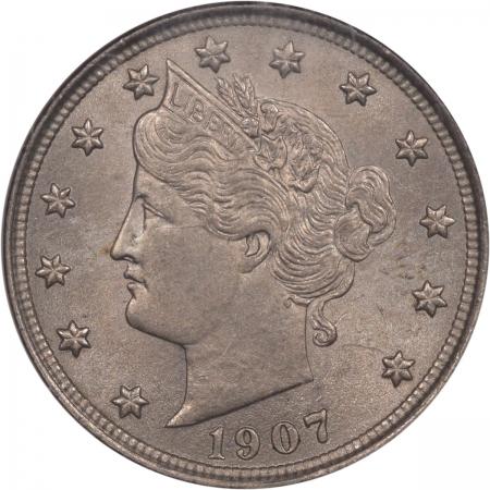Liberty Nickels 1907 LIBERTY NICKEL NGC MS-64
