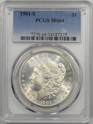 Morgan Dollars 1901-S MORGAN DOLLAR PCGS MS-64  PQ+