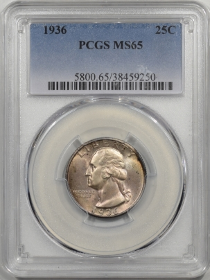 Washington Quarters 1936 WASHINGTON QUARTER PCGS MS-65