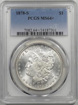 Morgan Dollars 1878-S MORGAN DOLLAR PCGS MS-64+