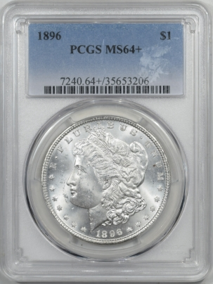 Coin World/Numismatic News Featured Coins 1896 MORGAN DOLLAR PCGS MS-64+