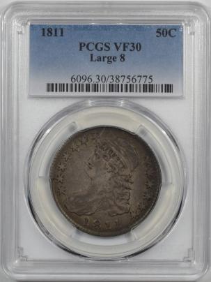 1811-50C-LARGE8-PCGS-VF30-775-1