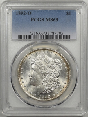 Coin World/Numismatic News Featured Coins 1892-O MORGAN DOLLAR PCGS MS-63
