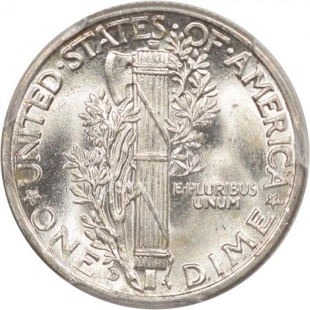 Mercury Dimes 1944-D MERCURY DIME PCGS MS-65 FB
