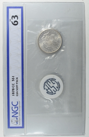 Morgan Dollars 1878-CC MORGAN DOLLAR GSA SOFT PACK NGC MS-63
