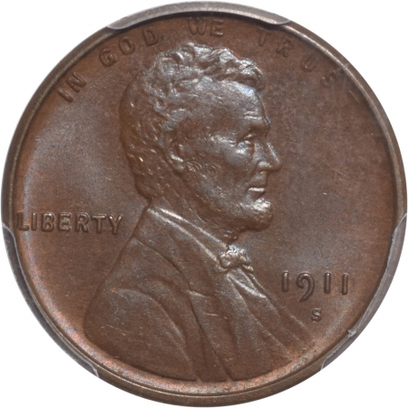 Coin World/Numismatic News Featured Coins 1911-S LINCOLN CENT PCGS MS-65 BN PRISTINE GEM