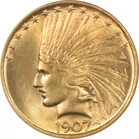 New Certified Coins 1907 $10 LIBERTY HEAD GOLD – NO MOTTO NGC MS-64 PREMIUM QUALITY!