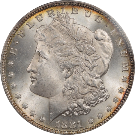 New Certified Coins 1881 MORGAN DOLLAR PCGS MS-66