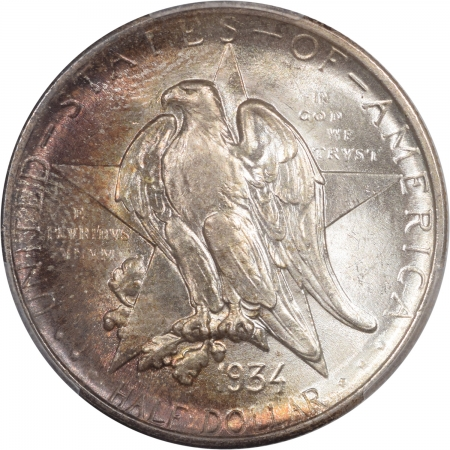 Coin World/Numismatic News Featured Coins 1934 TEXAS COMMEMORATIVE HALF DOLLAR PCGS MS-67, PRETTY!