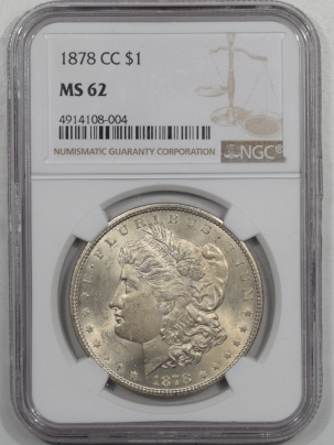 Morgan Dollars 1878-CC MORGAN DOLLAR NGC MS-62