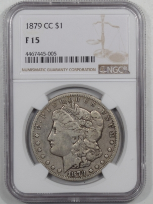Coin World/Numismatic News Featured Coins 1879-CC MORGAN DOLLAR NGC F-15