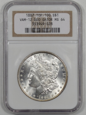 Coin World/Numismatic News Featured Coins 1887 MORGAN DOLLAR VAM-12 DDO GATOR TOP 100 NGC MS-64