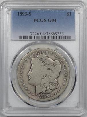 Coin World/Numismatic News Featured Coins 1893-S MORGAN DOLLAR PCGS G-4