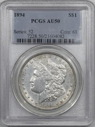 Coin World/Numismatic News Featured Coins 1894 MORGAN DOLLAR PCGS AU-50