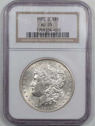 Coin World/Numismatic News Featured Coins 1895-O MORGAN DOLLAR NGC AU-55 WHITE!