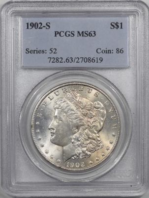 Coin World/Numismatic News Featured Coins 1902-S MORGAN DOLLAR PCGS MS-63