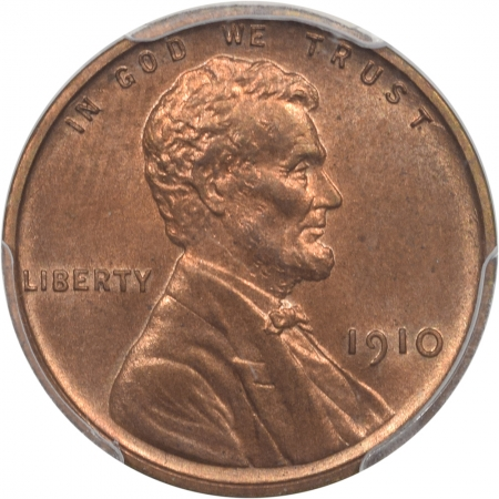 Coin World/Numismatic News Featured Coins 1910 PROOF LINCOLN CENT PCGS PR-64 RB CAC APPROVED