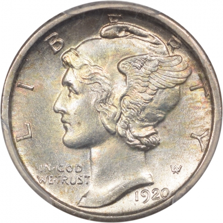 Coin World/Numismatic News Featured Coins 1920-D MERCURY DIME PCGS MS-64 FB