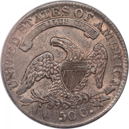 Coin World/Numismatic News Featured Coins 1832 CAPPED BUST HALF DOLLAR – SMALL LETTERS ANACS EF-40 PQ!